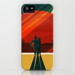 Vintage Adventure Travel Phobos and Deimos iPhone Case