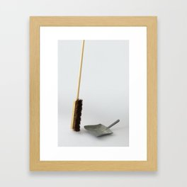 The Uncomfortable Broom Framed Art Print