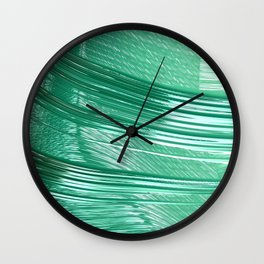 Green Mystery Abstract Wall Clock