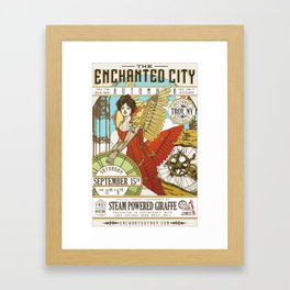 The Enchanted City Poster 2018 Framed Art Print