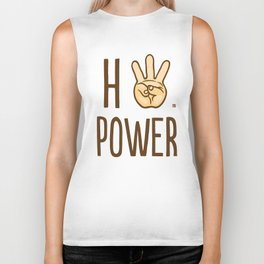 HiiiPower (w/text) : Pale Biker Tank