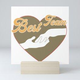 Cooles Pferde Shirt - Bestes Team Pferd + Mensch Mini Art Print