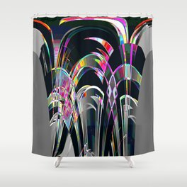 Crystal Object Shower Curtain