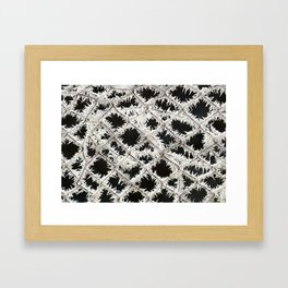 Frosted Fence Framed Art Print
