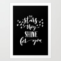 The Stars They Shine For You Art Print