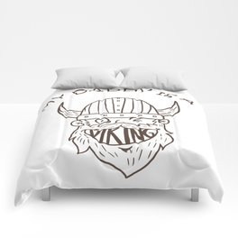 Viking Baby Son Dad Fathers Day Valhalla Gods Gift Comforters