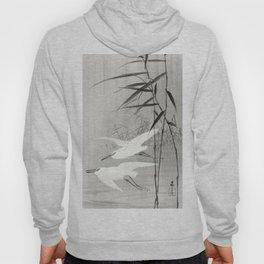 Two egrets in flight (1900 - 1936) by Ohara Koson (1877-1945) Hoody