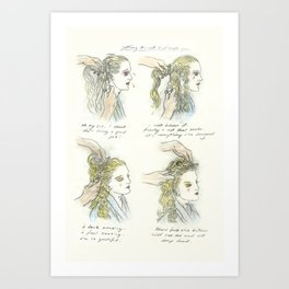 getting the cut that suits you Art Print