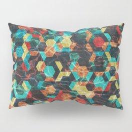 Colorful Half Hexagons Pattern #07 Pillow Sham