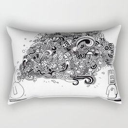 """Bla, bla, bla"" Rectangular Pillow"