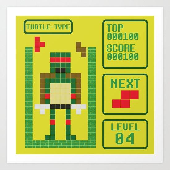 TETRIS: Turtle Type Art Print