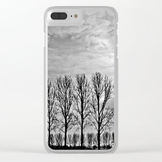 Black and white landscape Clear iPhone Case