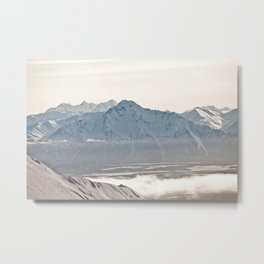 Talkeetna Mountains and Twin Peaks Metal Print