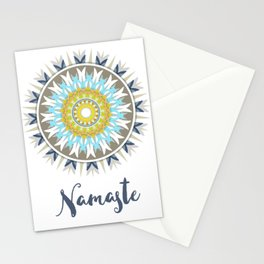 Mandala Namaste, colorful mandal Stationery Cards