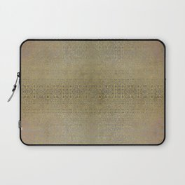 Gold and Silver Leaf Bridget Riley Inspired Pattern Laptop Sleeve