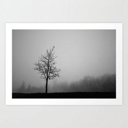 Foggy Silhouettes. Art Print