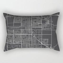 Oxnard Map, USA - Gray Rectangular Pillow