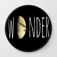 wonder Wall Clocks featuring Wonder by ALLY COXON