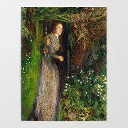 Ophelia Painting by John Everett Millais Poster
