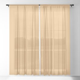 Halloween Party / Pale Orange (Mix & Match Set) Sheer Curtain