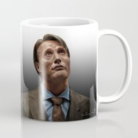 hannibal Mugs featuring Hannibal by Jaimie
