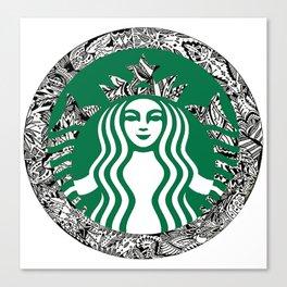 Starbucks T-Shirt Canvas Print