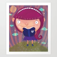 girly Art Prints featuring Girly by Maria Jose Da Luz