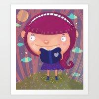 girly Art Prints featuring Girly by Maria Jose Da Luz