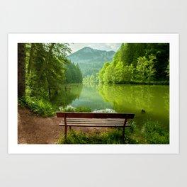 Red Lake with mountains, Romania Art Print