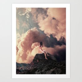 You came from the Clouds Art Print