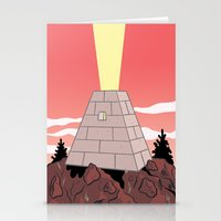 pyramid Stationery Cards featuring Pyramid by Mike Force