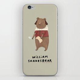 William Shakesbear iPhone Skin