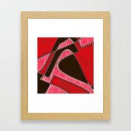 Red Denim Sampler Framed Art Print