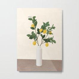 Lemon Branches II Metal Print