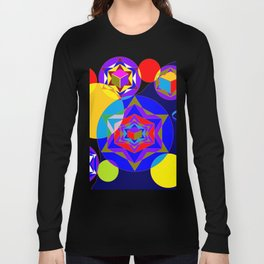 A Galaxy of Stars, Cubes and Planets Long Sleeve T-shirt