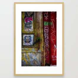 Red Facing Framed Art Print