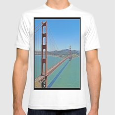 Golden Gate Bridge Mens Fitted Tee White MEDIUM