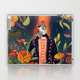 Floral Puffin Laptop & iPad Skin