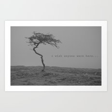 postcard from nowhere... Art Print