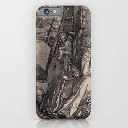 Albrecht Dürer - Melancolia I (1514) iPhone Case