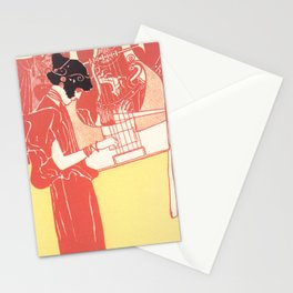 "Gustav Klimt ""Musik lithograph"" Stationery Cards"