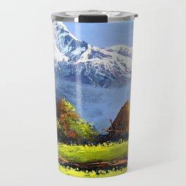 Panoramic View Of Beautiful Everest Mountain Travel Mug