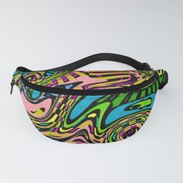 Cartoon Camouflage Abstract Art Pattern Fanny Pack