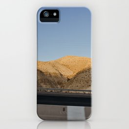 Above the Dead Sea, Isreal | Sun set golden hour and salted water | Travel photography | Mountain vi iPhone Case