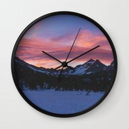 Kearsage Pass Sunrise - Pacific Crest Trail, California Wall Clock
