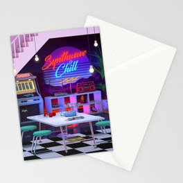 Synthwave And Chill Stationery Cards