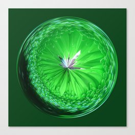 Fantasy Glass Orb in Green Canvas Print