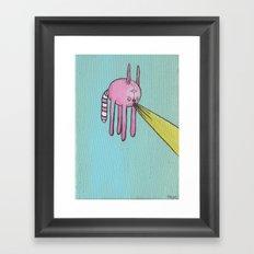 Lazer Cat Framed Art Print