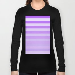 Purple Stripes Fade Long Sleeve T-shirt