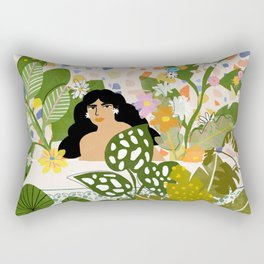 Bathing with Plants Rectangular Pillow